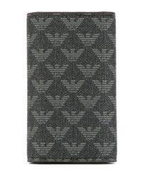 Emporio Armani - Gray Monogram Key Case - Lyst