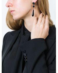 Givenchy - Black Tear Drop Earrings - Lyst