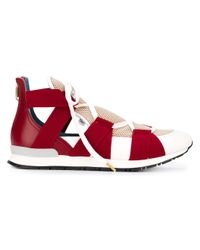 Vionnet - Red Elasticated Band Sneakers - Lyst
