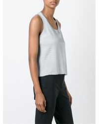 MM6 by Maison Martin Margiela Blue - Shimmering Knit Top - Women - Polyamide/polyester/acetate - M