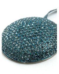 Dries Van Noten - Blue Swarovski Crystal Medal Pendant Necklace - Lyst