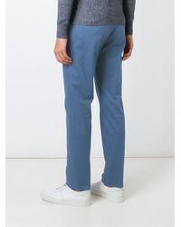 Loro Piana - Blue Slim Fit Trousers for Men - Lyst
