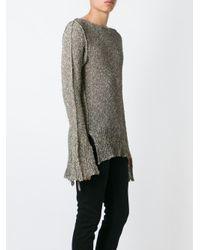 Cedric Jacquemyn - Blue Long-sleeved Sidetape Sweater - Lyst