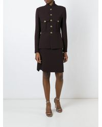 Jean Paul Gaultier Brown Military Inspired Skirt Suit