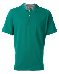 Missoni Green Logo Polo Shirt for men