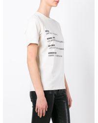Yang Li - Black Song List Print T-shirt - Lyst
