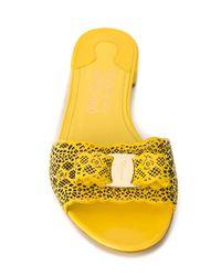 Ferragamo Yellow 'gil' Sandals