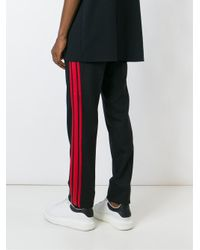 Givenchy Black Stripe Applique Trousers for men