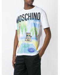 Moschino White Beach Teddy T-shirt for men