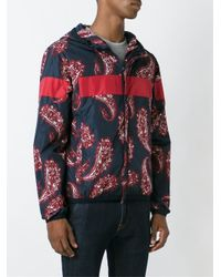 Moncler - Red Paisley Print Windbreaker Jacket for Men - Lyst
