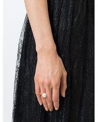 Delfina Delettrez - White 'trillion' Diamond Ring - Lyst