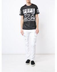 PRPS - Black Logo Print Mesh T-shirt for Men - Lyst