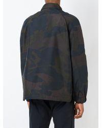 Sunnei Blue Camouflage Military Jacket for men