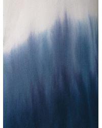 Raquel Allegra - White Dip-Dye Silk Blouse - Lyst