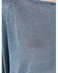 Cecilia Prado - Blue Back Wrap Tricot Blouse - Lyst