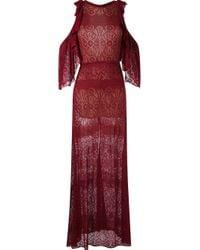 Cecilia Prado - Blue Maxi Tricot Dress - Lyst