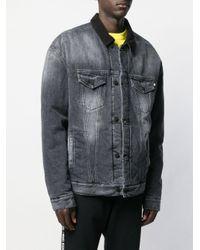 Veste oversize en denim Marcelo Burlon pour homme en coloris Gray