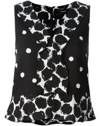 Proenza Schouler | Black - Sleeveless Polka Dot Blouse - Women - Silk/viscose - 2 | Lyst