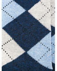Fashion Clinic - Blue Diamond Socks for Men - Lyst