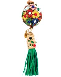 P.A.R.O.S.H. - Brown Floral Tassel Necklace - Lyst