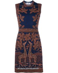 Valentino - Brown Sequined Silk Gown - Lyst