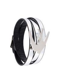 McQ - Metallic Swallow Triple Wrap Bracelet - Lyst