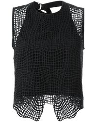 Manning Cartell - Black 'raw Intent' Top - Lyst