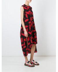 Marni | Black Leaf Print Dress | Lyst