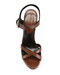 Burberry Black House Check Wedge Sandals