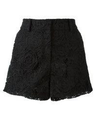 McQ | Black Guipure Lace Shorts | Lyst