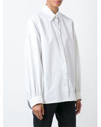 Céline - Black Elastic Cuff Shirt - Lyst