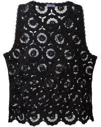 Emanuel Ungaro | Black Crochet Tank Top | Lyst