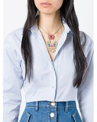 Shourouk - Multicolor 'leitmotiv Zia' Beaded Necklace - Lyst
