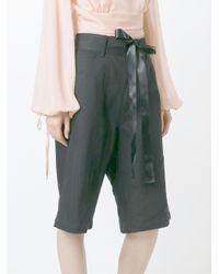 Nicopanda - Black Patchwork Denim Shorts - Lyst