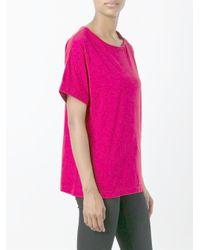 Aspesi - Red Oversized T-shirt - Lyst