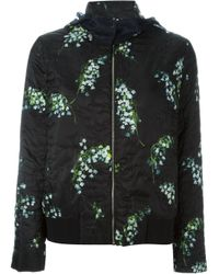 Moncler Gamme Rouge | Black 'iris' Patterned Jacket | Lyst