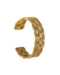 Aurelie Bidermann | Metallic 'braided' Open Bracelet | Lyst