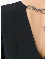 Alexander Wang Black Chain Detail Dress