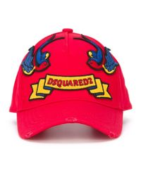 983f2e6ee Lyst - DSquared² Embroidered Patch Cap in Red for Men