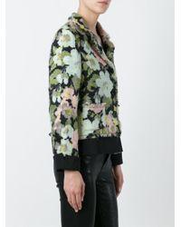Moschino - Blue Woven Flower Print Jacket - Lyst