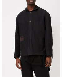 Aganovich Black Classic Shirt Jacket for men