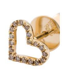 Rosa De La Cruz   Metallic Diamond Heart Stud Earrings   Lyst