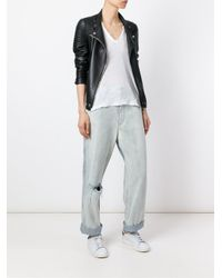 Golden Goose Deluxe Brand Blue Washed Distressed Boyfriend Jeans