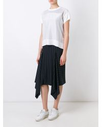 DKNY White Loose Fit T-shirt