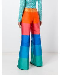 Daizy Shely Multicolor Striped Wide-leg Trousers