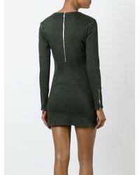 RTA Black Zip Detail Dress