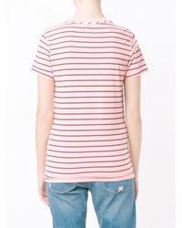 NSF - Black Striped Cotton T-Shirt - Lyst