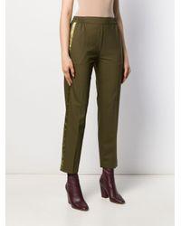 Pantalon droit à taille élastiquée Etro en coloris Green
