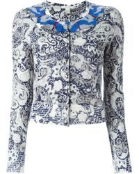 Marc Jacobs | Blue Sequinned Neck Cardigan | Lyst