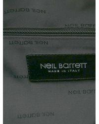 Neil Barrett Black Printed Holdall for men